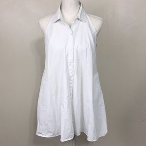 AG Adriano Goldschmied White Halter Tunic Blouse